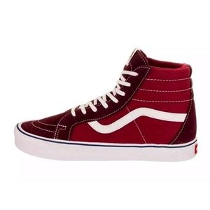 Vans SK8-HI throwback red purple men sz 8 sneaker